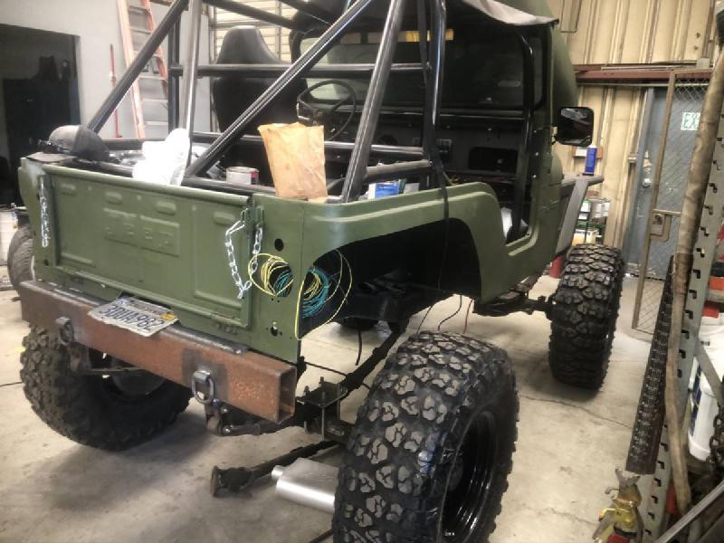 1974 Jeep CJ5 Project, crate 383, D44/D60, 37s For Sale - 1