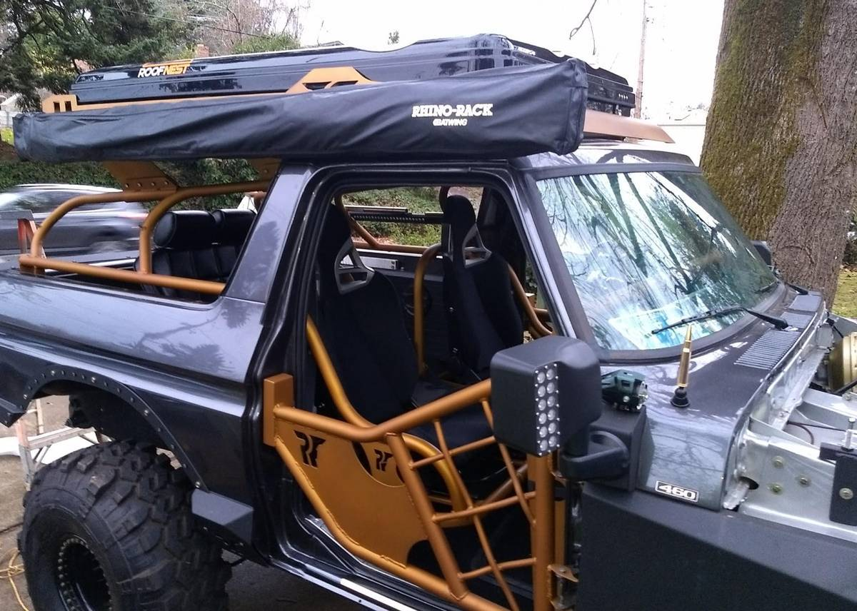 1979 Ford Bronco On 40s 460 Roof Top Tent Winch C6