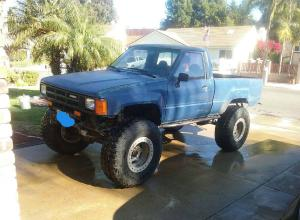 1985 Toyota Pickup on 37s, 5.29s, duals, locked For Sale