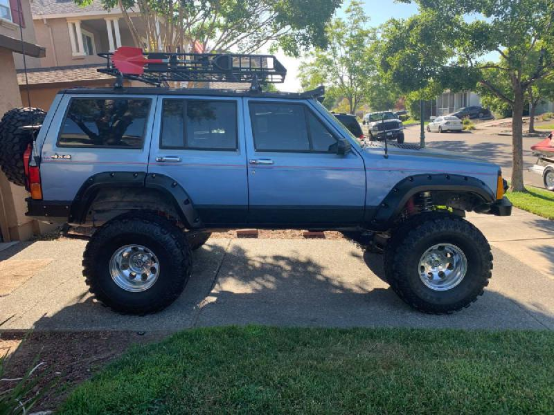 """1992 Jeep Cherokee XJ on 35"""" SSRs, winch, built suspension For Sale - 1"""