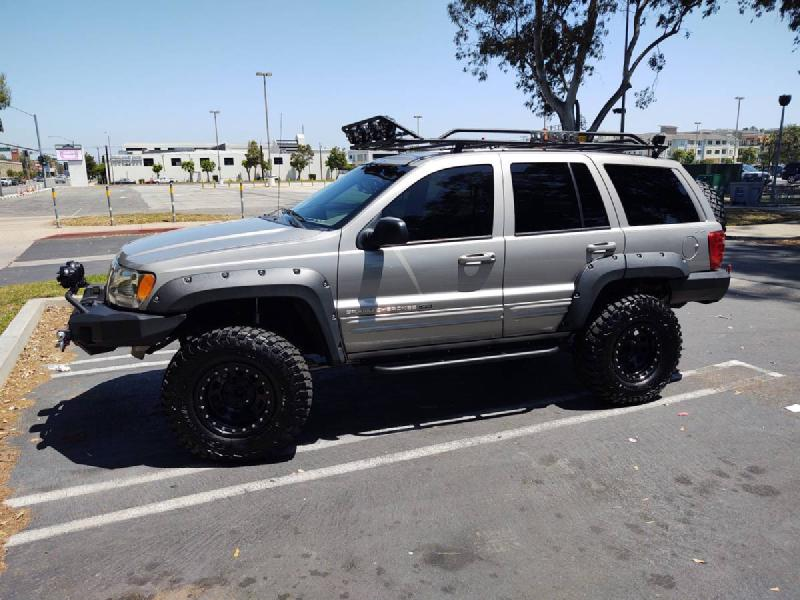 """2000 Jeep Grand Cherokee Limited, 3"""" long arm, winch, clean For Sale - 1"""